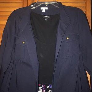 Navy blue dress jacket